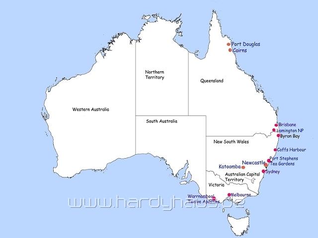 Port Douglas Karte.Australien 2 Hardys Reise Homepage